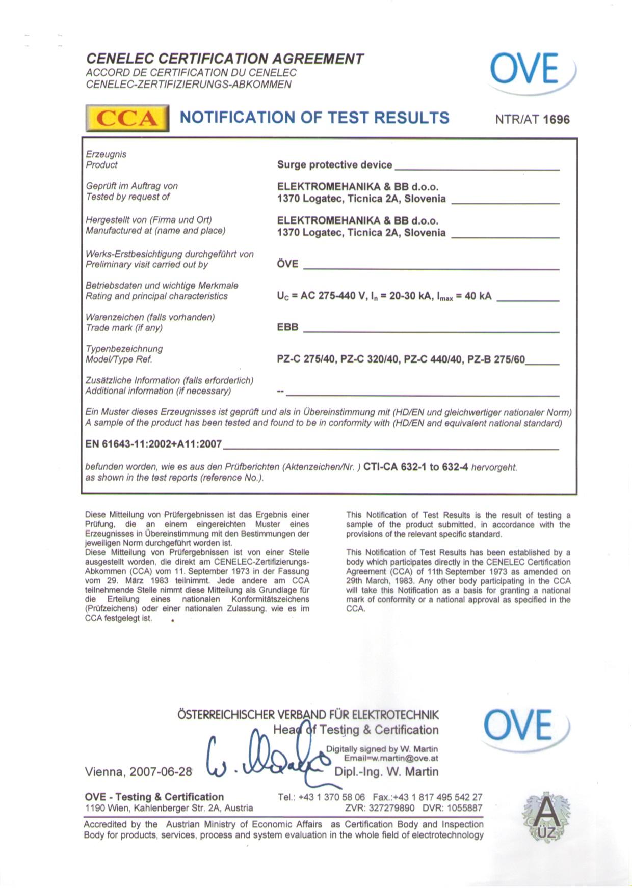 Certifikati PZ(GDT,B,C)